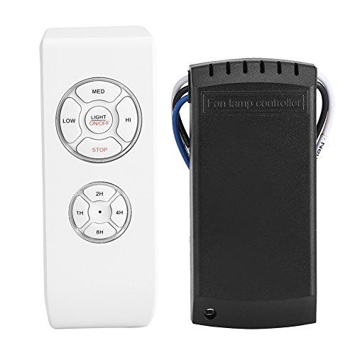 Kit de control remoto inalámbrico, 4 tiempos 3 velocidades Universal Ventilador de techo Lámpara de luz Controlador de tiempo Interruptor Kit de control remoto inalámbrico con transmisor y receptor