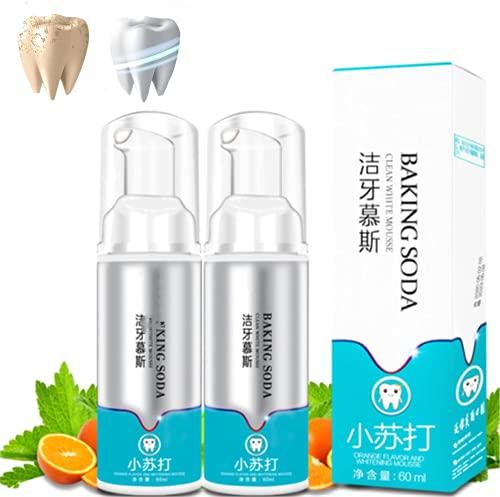 2Pcs Brightify Limpieza profunda de espuma de pasta de dientes,Pasta de dientes blanqueadora de espuma ultrafina Limpieza profunda de las encías Pasta de dientes de eliminación de manchas intensiva