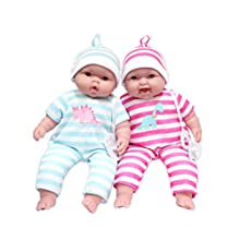 """JC Toys Lots to Cuddle Babies, 13"""" Baby Soft Doll Soft Body Twins, Designed by Berenguer"""