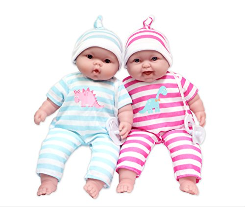 JC Toys Lots to Cuddle Babies, 13' Baby Soft Doll Soft Body Twins, Designed by Berenguer