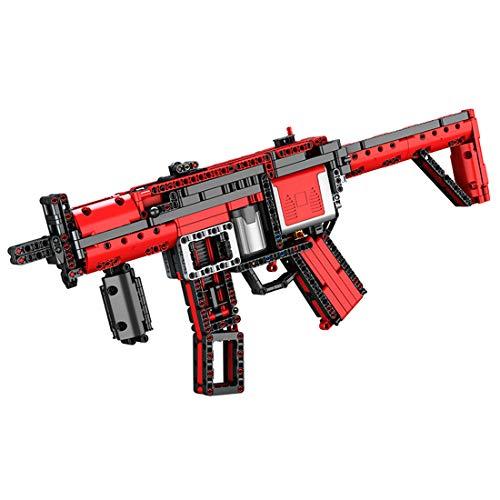 GILE Tecnica MP5 - Set di mattoncini da costruzione, 770 + componenti tecnica MP5, modello con motore e funzione di tiro, compatibile con tecnica LEGO