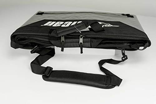 Pelican Boats - Stand-Up Paddleboard Bag - PS1458 - Deluxe Travel Carry Bag – Heavy Duty Carrier & Cover – Paddle… 4 Take your SUP wherever you go with our heavy duty polypropylene tarpaulin bag for maximum resistance – fin slot and handle openings Fin zipper to easily open your bag Secure and carry your board with a comfortable handle and shoulder strap