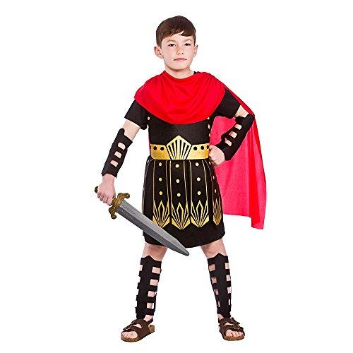 Roman Commander Boys Traje de Fantasía Guerrero Gladiador- X-Large - 11/13 Años 146-158cm