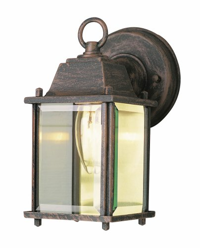 "Trans Globe Lighting 40455 RT Outdoor Patrician 8"" Wall Lantern, Rust"