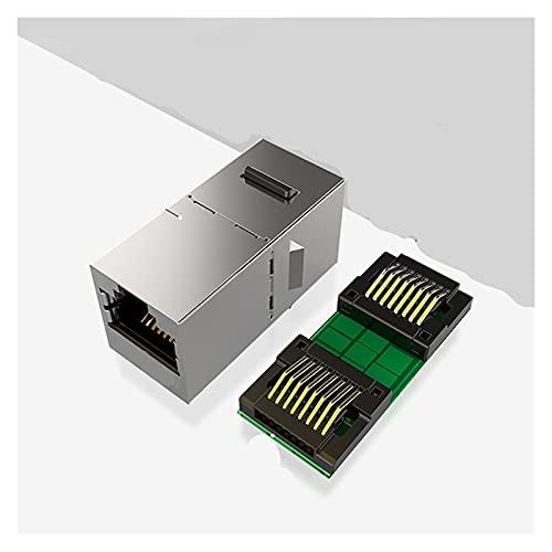 JIYAMI'EN EL-b Acoplador en línea Silded RJ45 8P8C Conector CAT6 / CAT5E 1000MB para Adaptador de Extensor de Cable LAN Ethernet (Bundle : 5PCS)