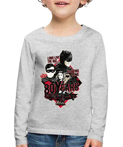 Batman 80 Ans T-Shirt Manches Longues Premium Enfant, 6 Ans,
