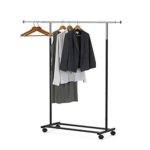 Robuust kledingrek op wielen Verstelbare nette kledingrekhanger Droogjas Ophangen Mobiele opslag Kledingstandaard