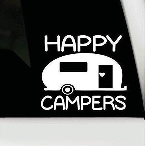H421ld Calcomanía de vinilo Happy Campers, Happy Campers pa