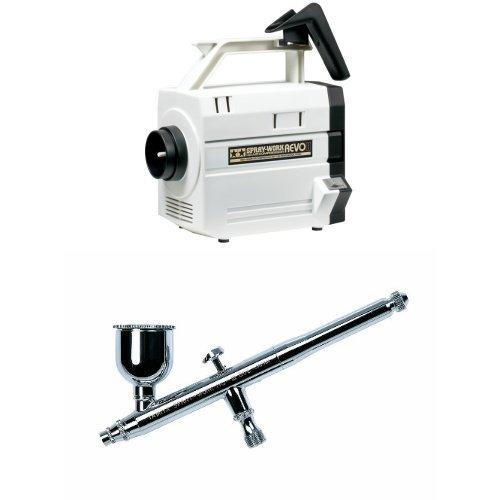 【セット商品】 タミヤ スプレーワーク HG コンプレッサー レボ II + HG エアーブラシIII