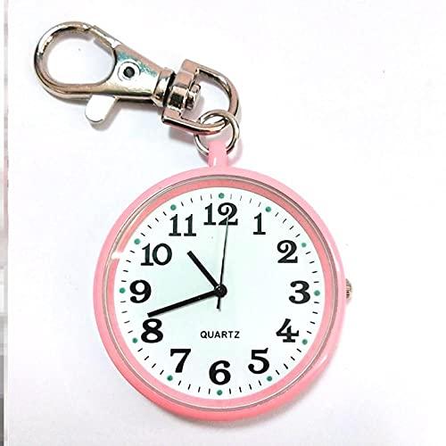 LLRR Pulsera Fob Reloj,Examen Especial para Estudiantes mudos con Reloj, Reloj de Bolsillo médico, Mesa de Senderismo-BB,Ajustable Longitud Reloj de Bolsillo