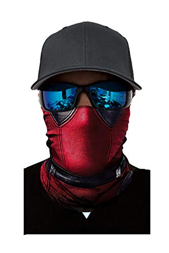 Seamless Rave Bandana Dust Wind Sun UV Protection Neck Gaiter Mask Face Scarf(Deadpool)