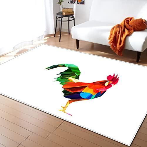 NHhuai Alfombra De Pelo Largo, Shaggy para Salón, Pintura Cuadrada Creativa Sala de Estar Alfombra Dormitorio Comedor