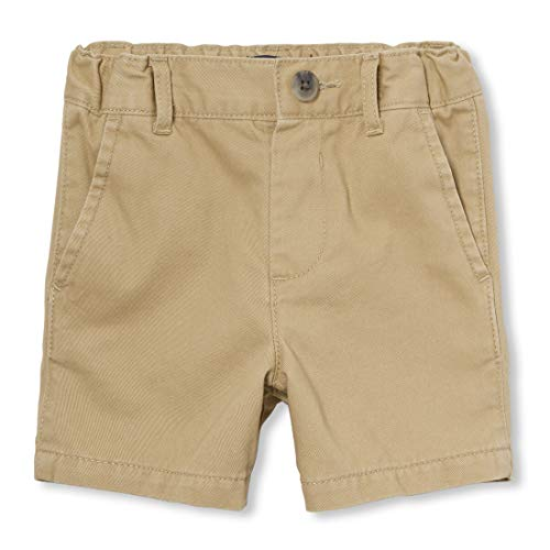 The Children's Place Boys Toddler Uniform Chino Shorts, Flax, 2T