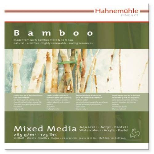 HAHNEMUHLE BAMBOO MIXED MEDIA PAD 9.5X12.5 INCH