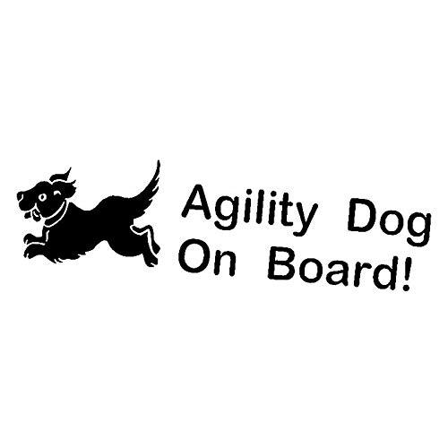 Etiqueta engomada del Coche Negro 16.8cm * 5.4cm Agility Dog Car Logo Etiquetas de Vinilo Pegatinas de Coche Negro/Plata