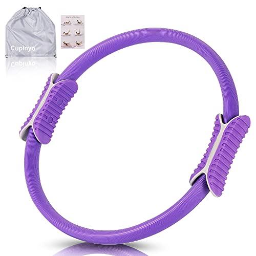 Cupinyo Pilates Ring - 38cm Pilates Yoga Ringe, Doppelgriff Rutschfester Pilates Circle, zur Fettverbrennung und zum Core-Training von Oberschenkeln, Armen, Taille und Gesäße