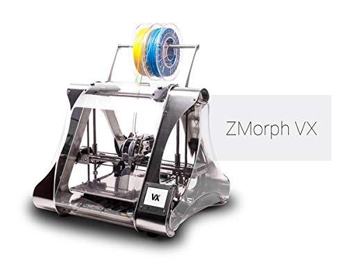 Imprimante 3D Multifonctions ZMorph VX - Ensemble Complet - Inclut Une extrudeuse à Deux matériaux, Une extrudeuse pour pâte épaisse, Une CNC et des têtes de Coupe et de Gravure au Laser