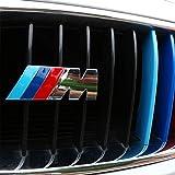 Emblemas de decoración para parrilla delantera de coche DIYUCAR 3D con logotipo M para F30 F48 F34 F20 F10 F25 F26 G30 G11