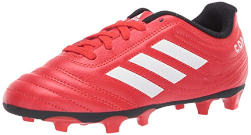 adidas Boy's Copa 20.4 Firm Ground Boots Soccer Shoe, Active red/FTWR White/core Black, 3.5 Little Kid