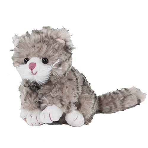 Bukowski Katze Little Maciek, Kuscheltier, Plüschtier, Kuschelkatze, Plüschkatze, grau mit rosa Nase