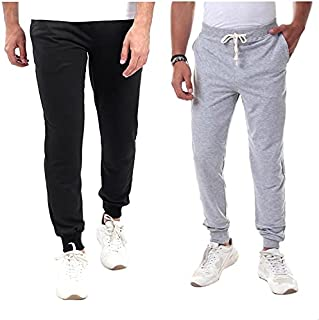 Off Cliff Cotton Elastic Drawstring Waist Side-Pocket Sweatpants for Men - Set of 2