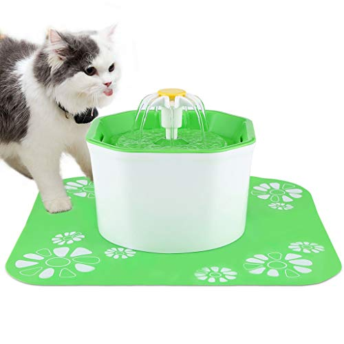 BOBEastal Cat Water Fountain,1.6L Automatic Pet Drinking Fountain Healthy Hygienic Fresh Water Ultra Quiet Cat Water Dispenser for Cats,Birds,Small Dogs and Animals