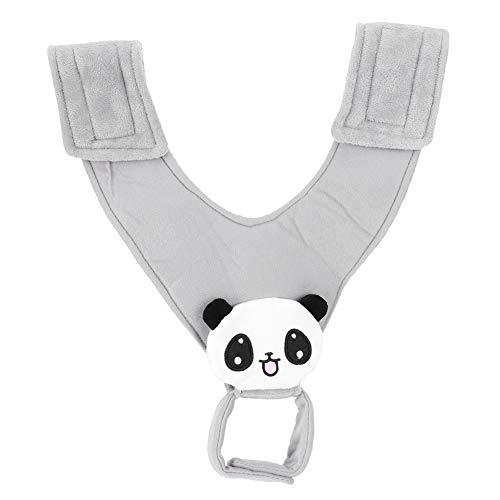 Suporte de fixação de mamadeira, pano elástico ajustável bonito para carrinho de bebê Tecido de alimentação super macio para bebê 0-3 anos(Panda nursing cloth)