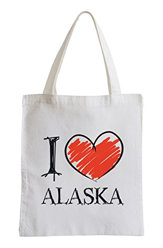 I Love Alaska Fun Jutebeutel