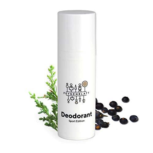 Feygenblatt Deocreme Herb - Deocreme ohne Aluminium - Naturkosmetik Deodorant mit ätherischen Ölen - Deo Herren - Deo Damen - Natural Antitranspirant