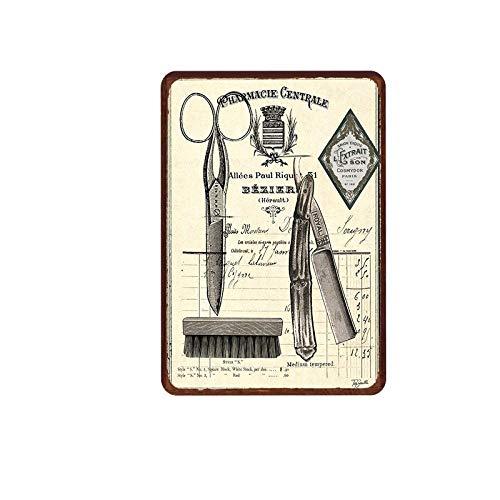 Sdbey Carteles De Metal Cartel De Placa Vintage Decoración De Pared Retro Peluquería Pintura De Hojalata Cuadro De Hierro Retro Decoración De Pared