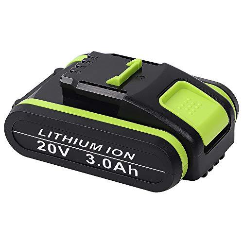 Jialitt Batería de repuesto para Worx 20V Max Lithium WA3551 WA3551.1 WA3553 WA3553.1 WA3553.2 WA3572 WA3641 (3 Ah)