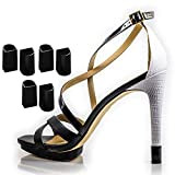 Heel Hunks Black H1 10mm 3-Pairs Heel Protectors Replacement Tip Caps for High Heel Shoes and Stiletto - Anti-Slip and for Grass - (pack of 3)