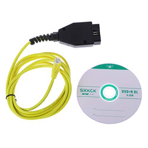 fuwahahah ESYS Datenkabel für BMW ENET Ethernet auf OBD Interface E-SYS ICOM Codierung für F-Serie Diagnosekabel