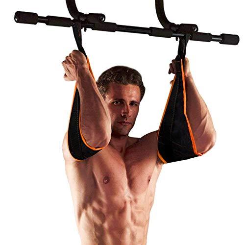 JERN AB Straps Arms Hanging Pull Up Belt Crunch Sling Abdominal Slings Workout Adjustable for Home Gym Use (Orange Lining)