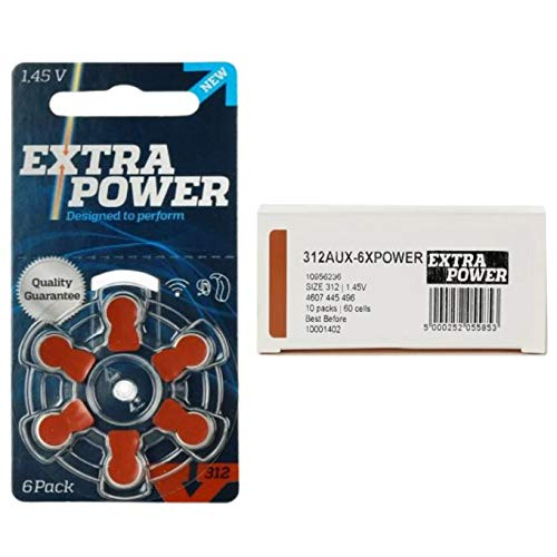 Bateria Auditiva 312 PR41 Extra Power - 60 baterias (10 cartelas)