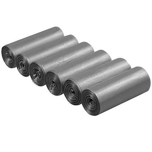 Neadas 5 litros Gris Bolsas de Basura Pequeñas, 6 Rollos de 150 Unidades en Total