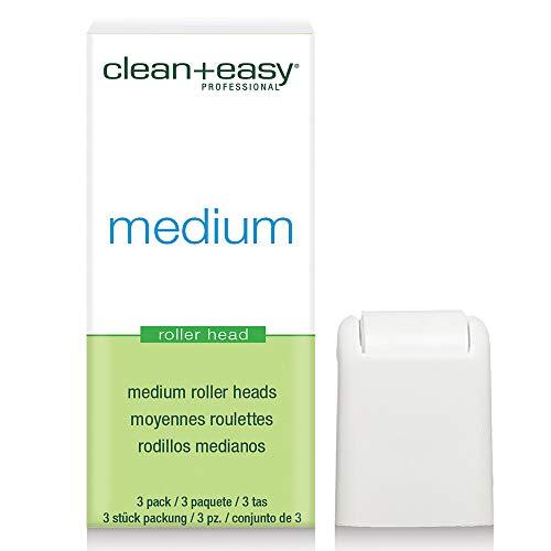 Clean+Easy - Juego de 3 cabezales de rodillo, tamaño mediano
