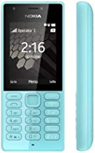 Nokia 216 DS Mobile Phone, Less than 512 MB Dual SIM Blue