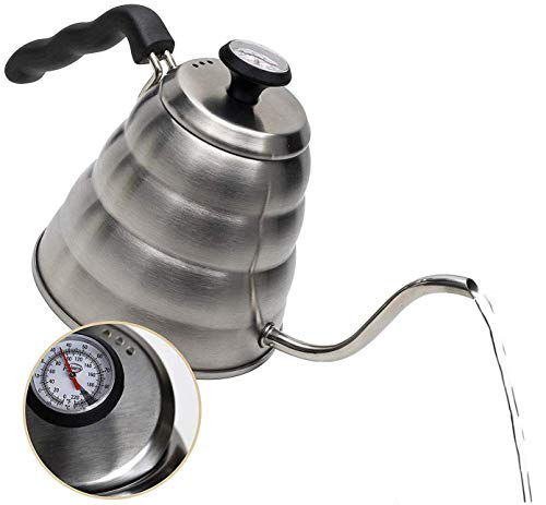 Gooseneck Kettle - Pour Over Coffee Kettle with Outstanding Thermometer (40floz) -...