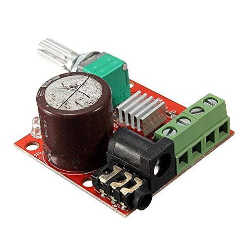 YEZIB Accesorios electrónicos de Bricolaje, 12V Mini Hi-Fi PAM8610 2x10w Audio Audio Amplificador Total Dual Canal 3 UNIDS