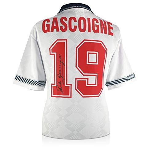 exclusivememorabilia.com Camiseta de Inglaterra 1990 firmada por Paul Gascoigne