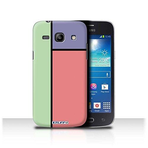 Var voor SGT-CC Pastel Tegels Samsung Galaxy Trend 3/G3502 3 Tegels/Rood