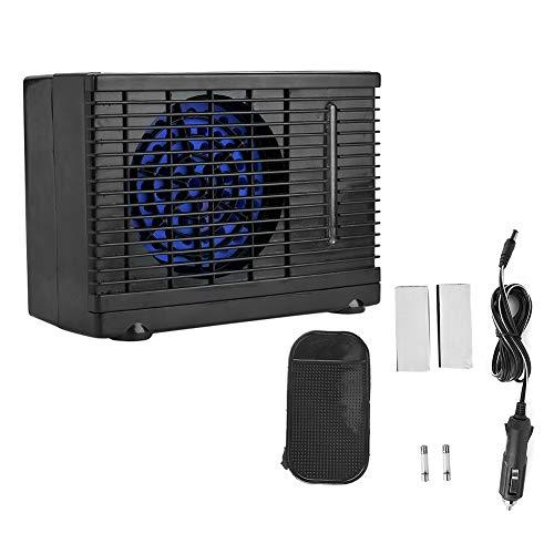 Kimiss Luchtventilator, 12 V, draagbaar, auto-instelbare ventilator, koelventilator, waterijs, verdampingskoeler