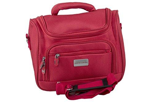 Beauty case uomo donna PIERRE CARDIN rosso trousse necessaire da viaggio T436