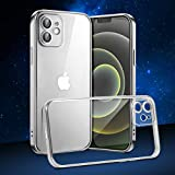 SMART for iPhone 12ケース6.1インチ2020 超薄型耐衝撃保護シェル 完全に透明なソフトTPUバックシェル 柔軟な電気メッキTPUバンパー ワイヤレス充電をサポート (銀)