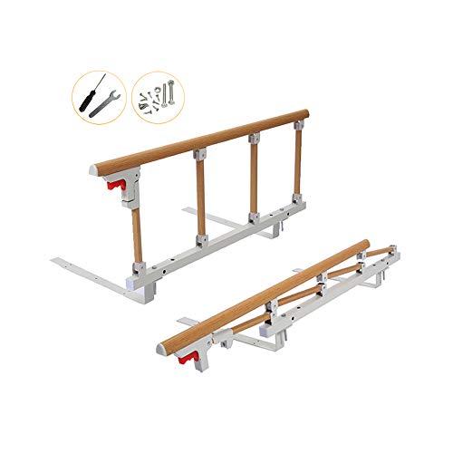 Barandilla cama adulto Barras plegables seguridad para camas mango de ayuda para ancianos, adultos, niños y discapacitados asidero barra cama riel plegable barra parachoques metal para hospital