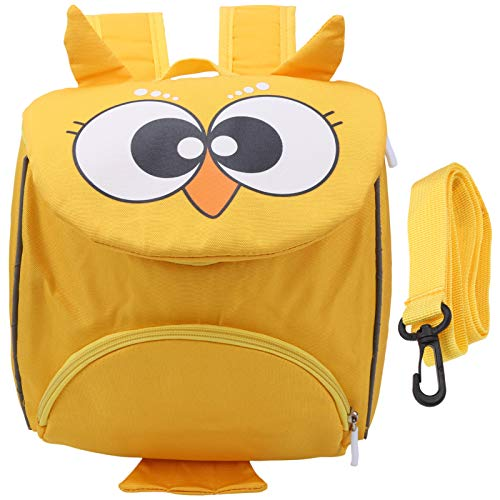 Asixxsix Bolsa de Seguridad para bebés, cómoda y Duradera, Bonita Mochila para niños pequeños, Resistente para Viajes, bebés de 3 a 6 años(Owl Yellow)