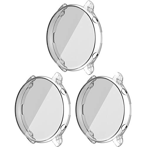 LvBu Schutzhülle Kompatibel mit Amazfit GTR 2, Flexibles TPU Vollschutz mit Displayschutzfolie Kratzfest Displayschutz Schutz Hülle Für Amazfit GTR 2 (Transparent+Transparent+Transparent)