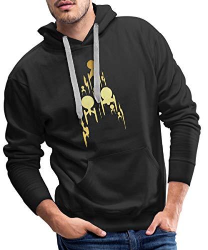 Star Trek Discovery Vaisseau Spatial d'or Sweat-Shirt à Capuche Premium pour Hommes, S, Noir
