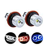 YZHUA 2 unids Error LED LED Angel Eyes Marker Lights Bulbs Fit para BMW E39 E53 E60 E61 E63 E64 E65 E66 E87 525i 530i XI 545i M5 (Color : Blue)